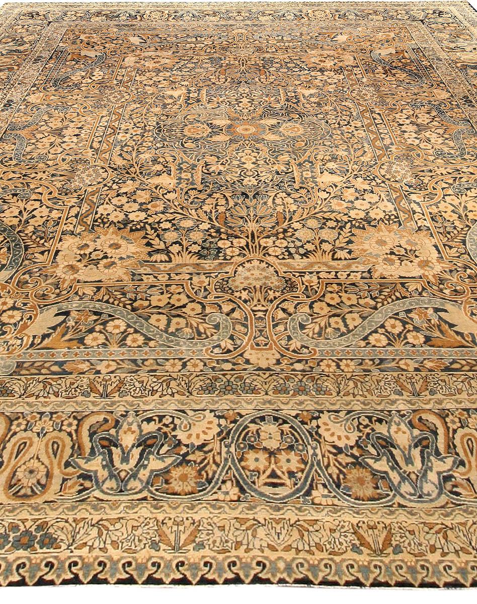 Antique Persian Kirman Handwoven Wool Rug BB4220