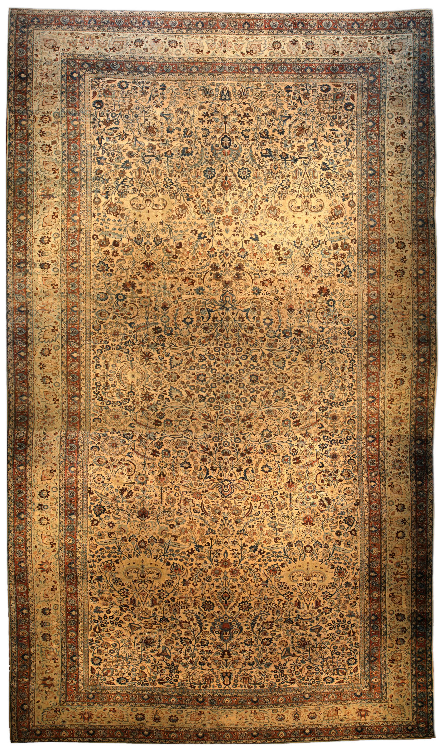 Oversized Antique Persian Meshad Rug BB4003