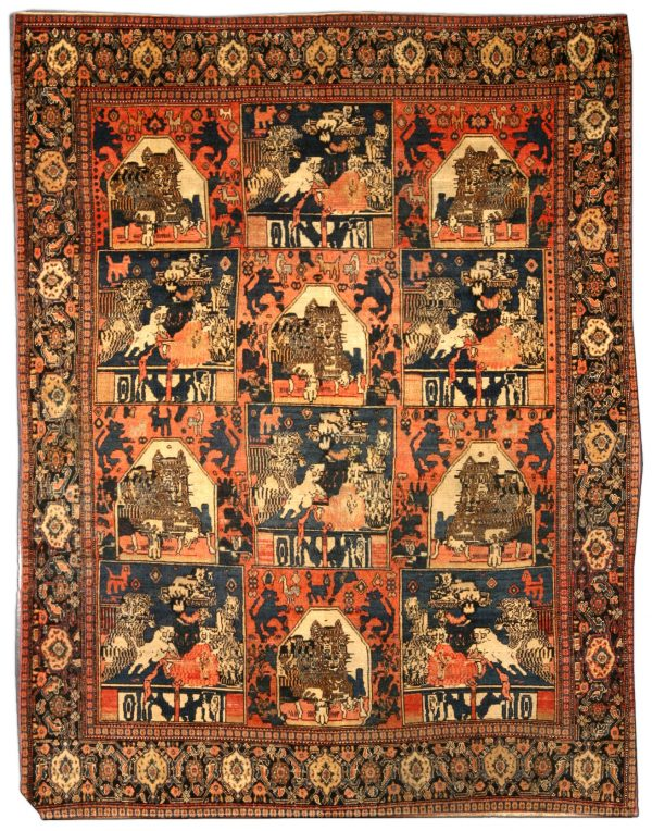 Antique Persian Rug BB4204 Senneh