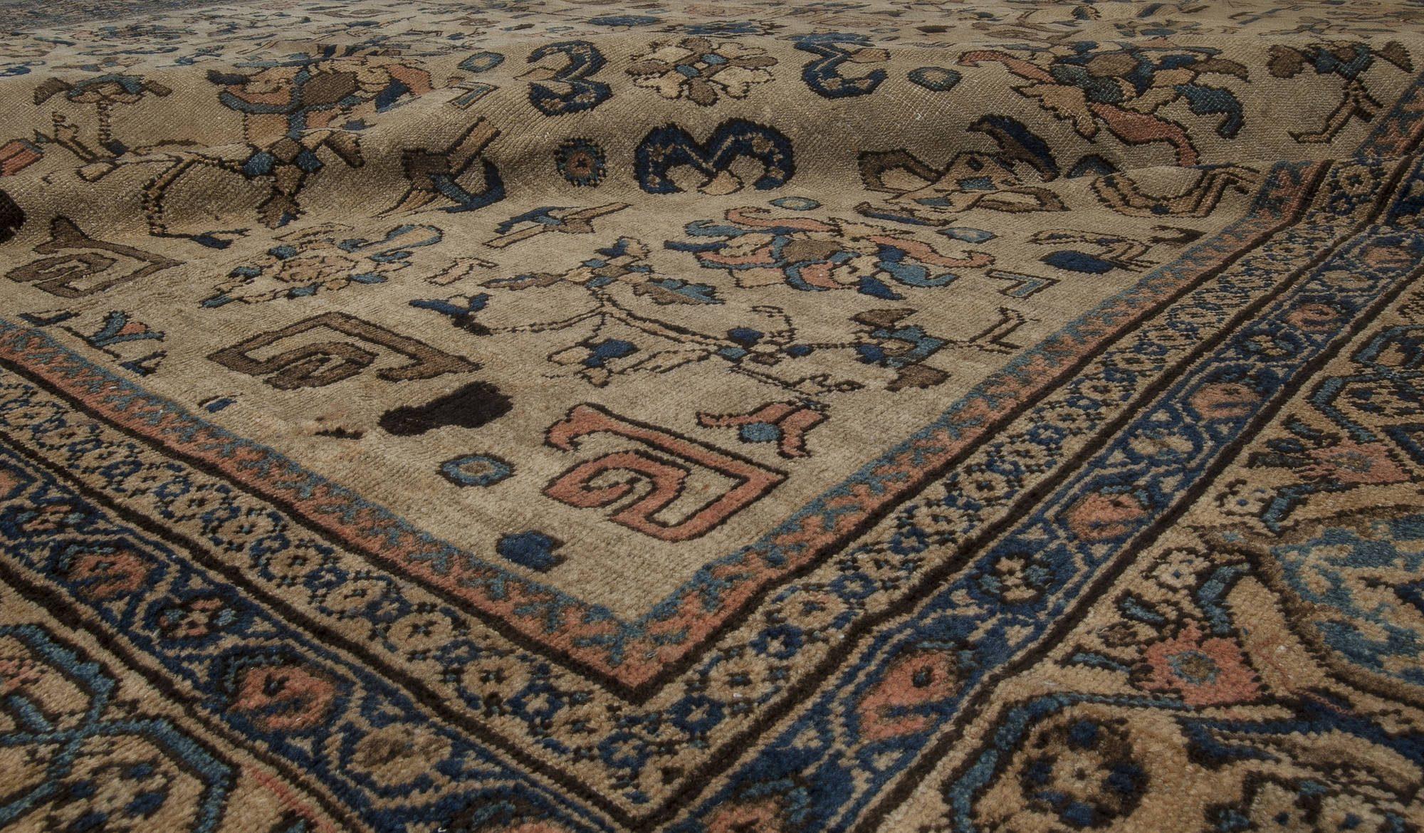 Beige Vintage Persian Sultanabad Rug BB3566