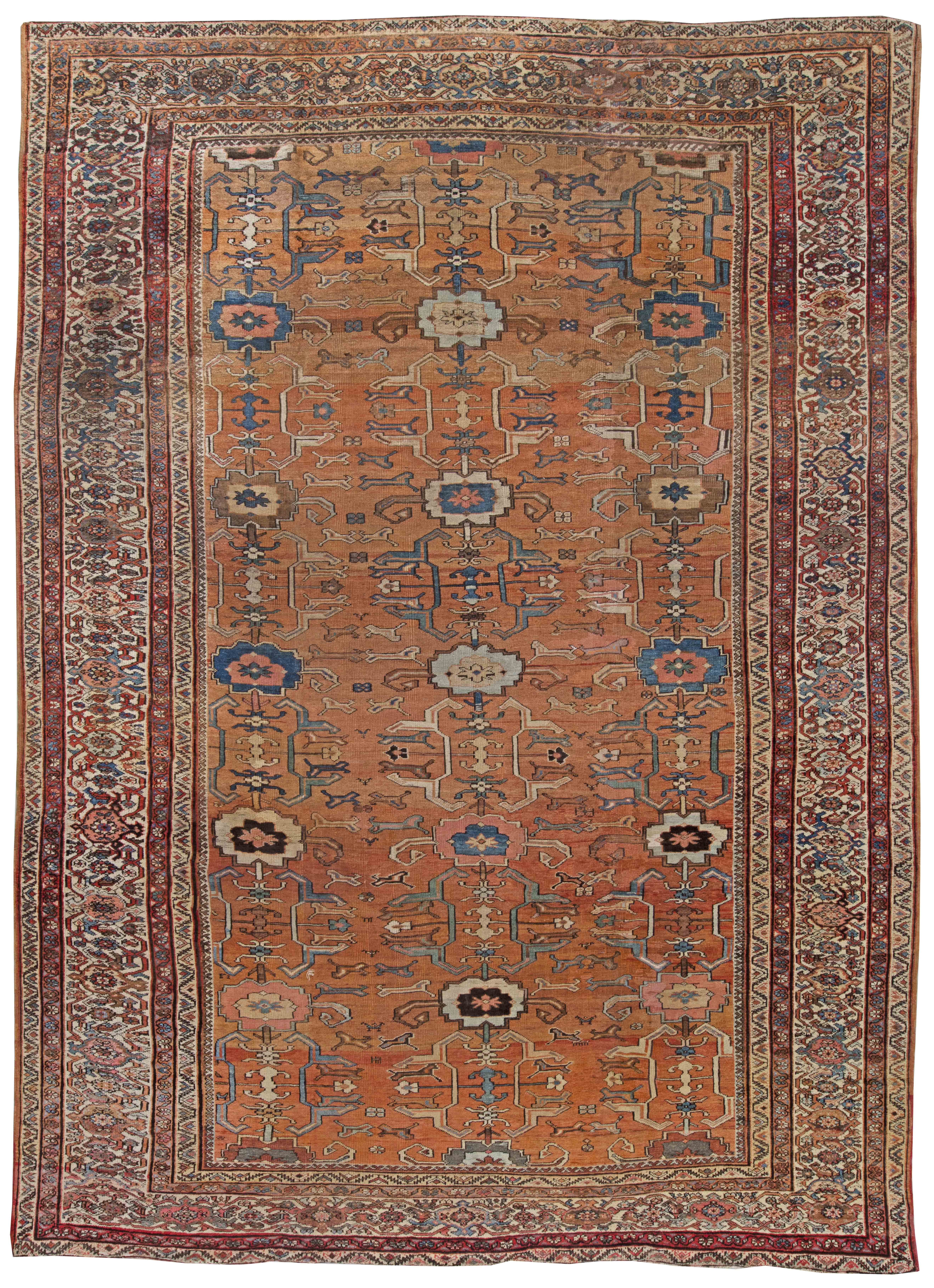 Antique Persian Sultanabad Rug Bb0537 By Dlb