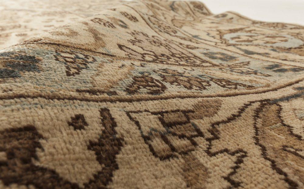 Antique Persian Tabriz Golden and Beige Handwoven Wool Rug BB6304