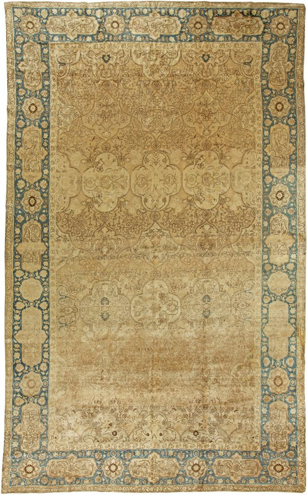 Antique Persian Tabriz Carpet BB5923