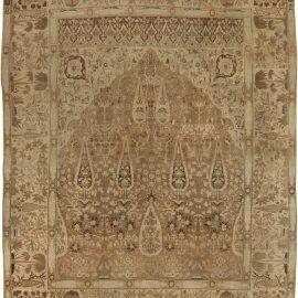 Antique Persian Tabriz Handwoven Wool Rug BB4134