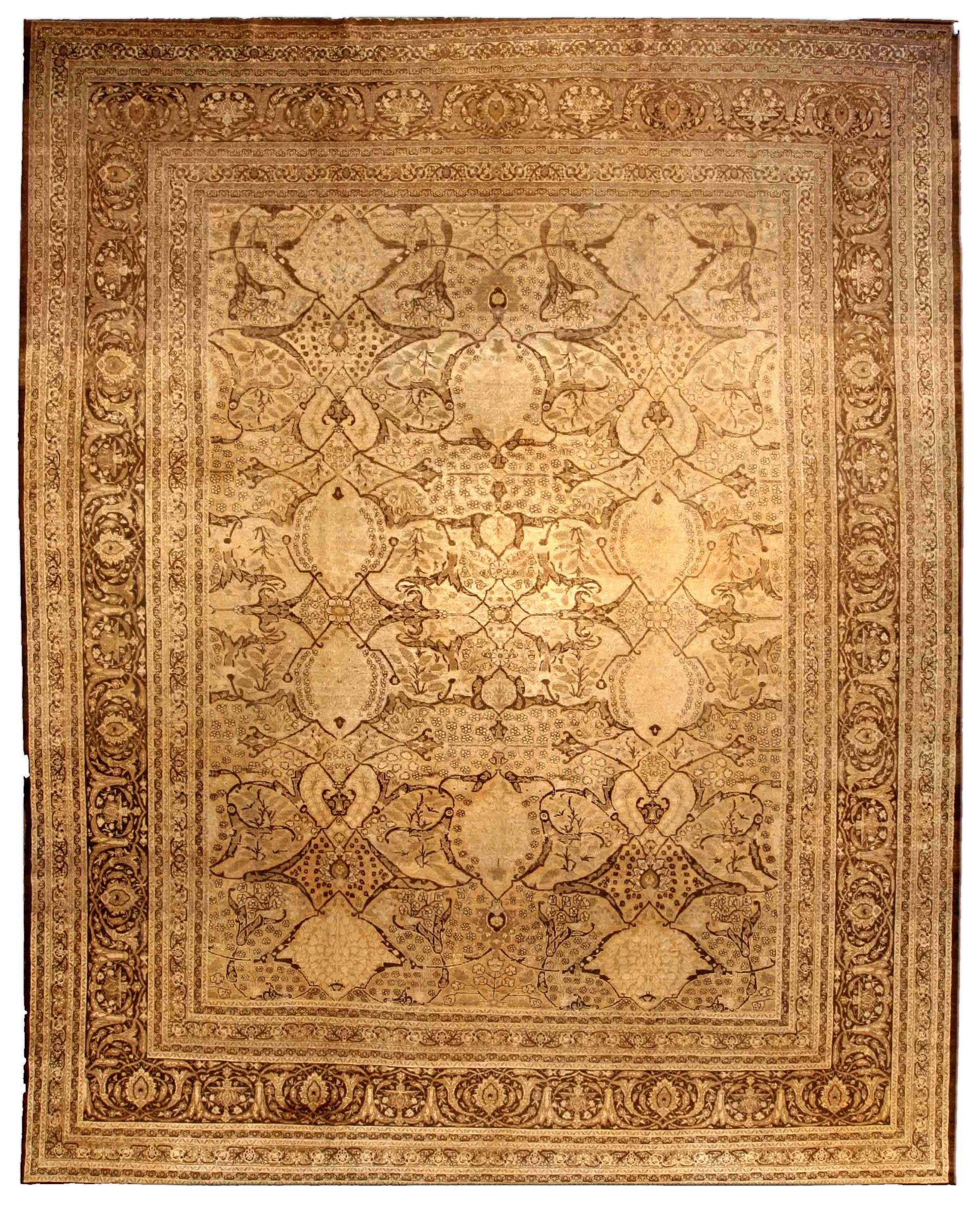 Antique Persian Tabriz Carpet BB0324