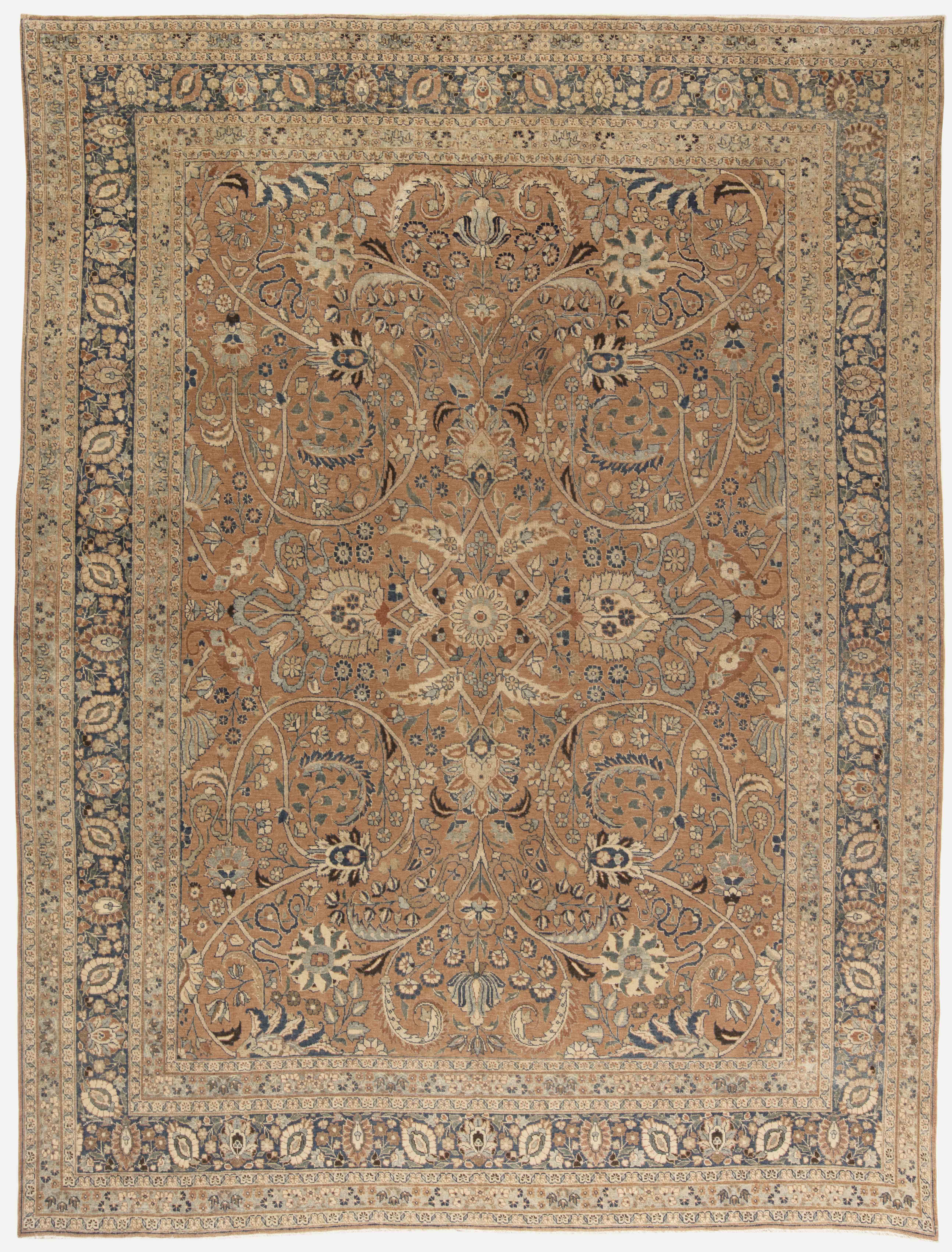 Antique Persian Tabriz Carpet Bb4470 By Doris Leslie Blau