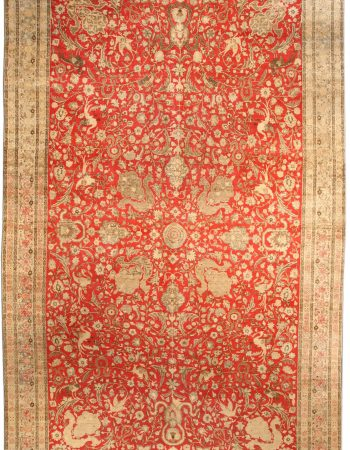 Antique persa Tabriz Tapete BB4159