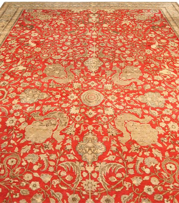 Antique Persian Tabriz Carpet BB4159