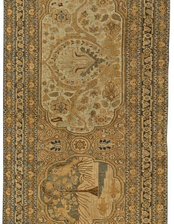 Antique Persian Tabriz Runner (size adjusted) BB6021