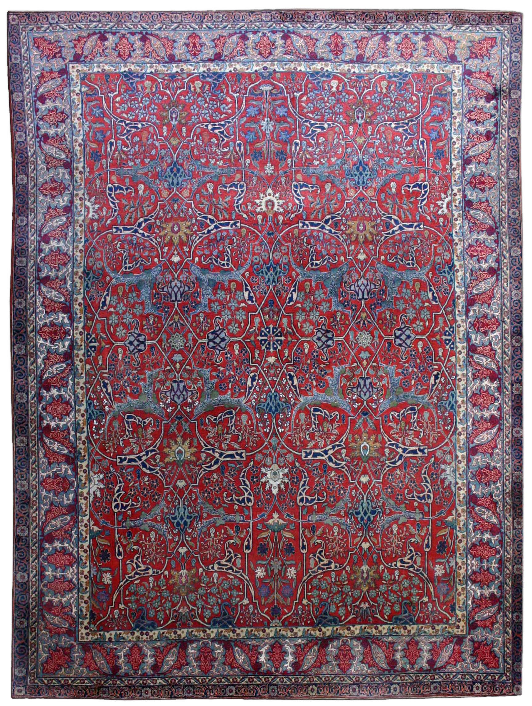 Antique Persian Tehran Rug BB2550