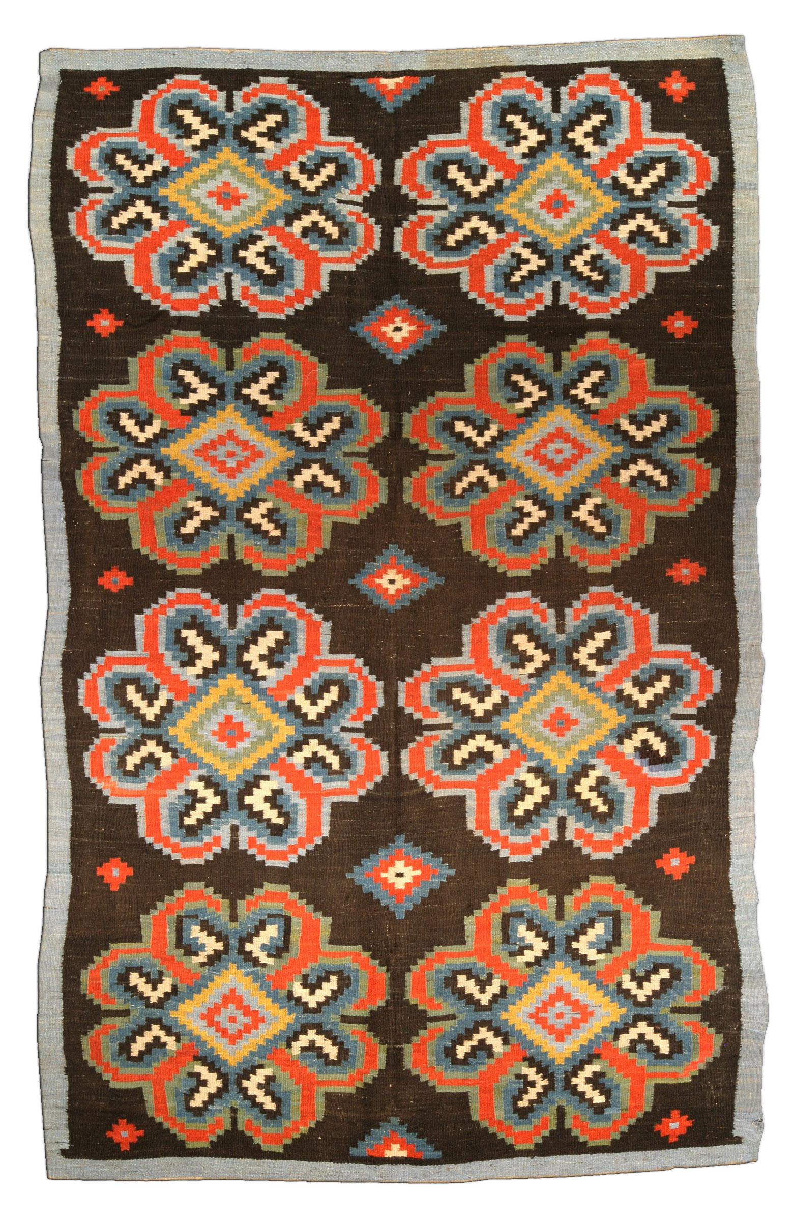 Antique Russian Bessarabian Carpet BB4438