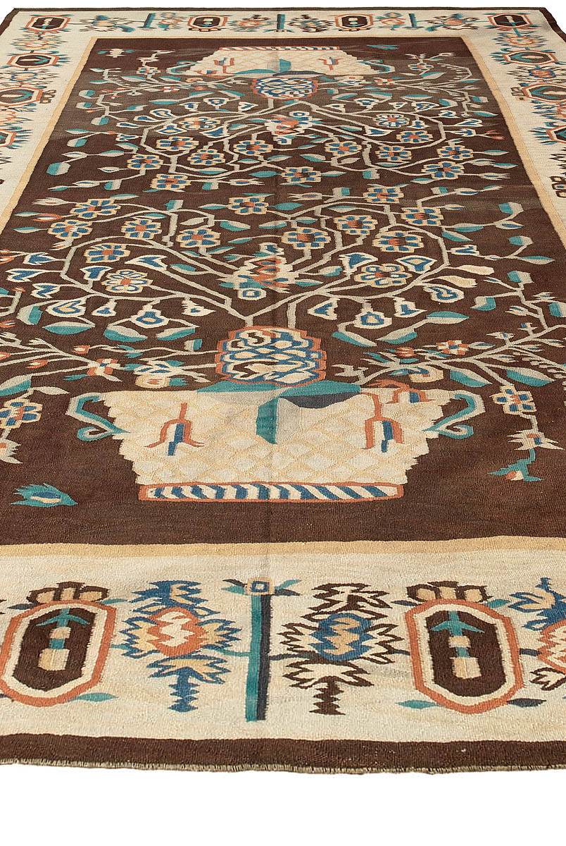 Antique Bessarabian Kilim Rug Bb3568 By Dlb