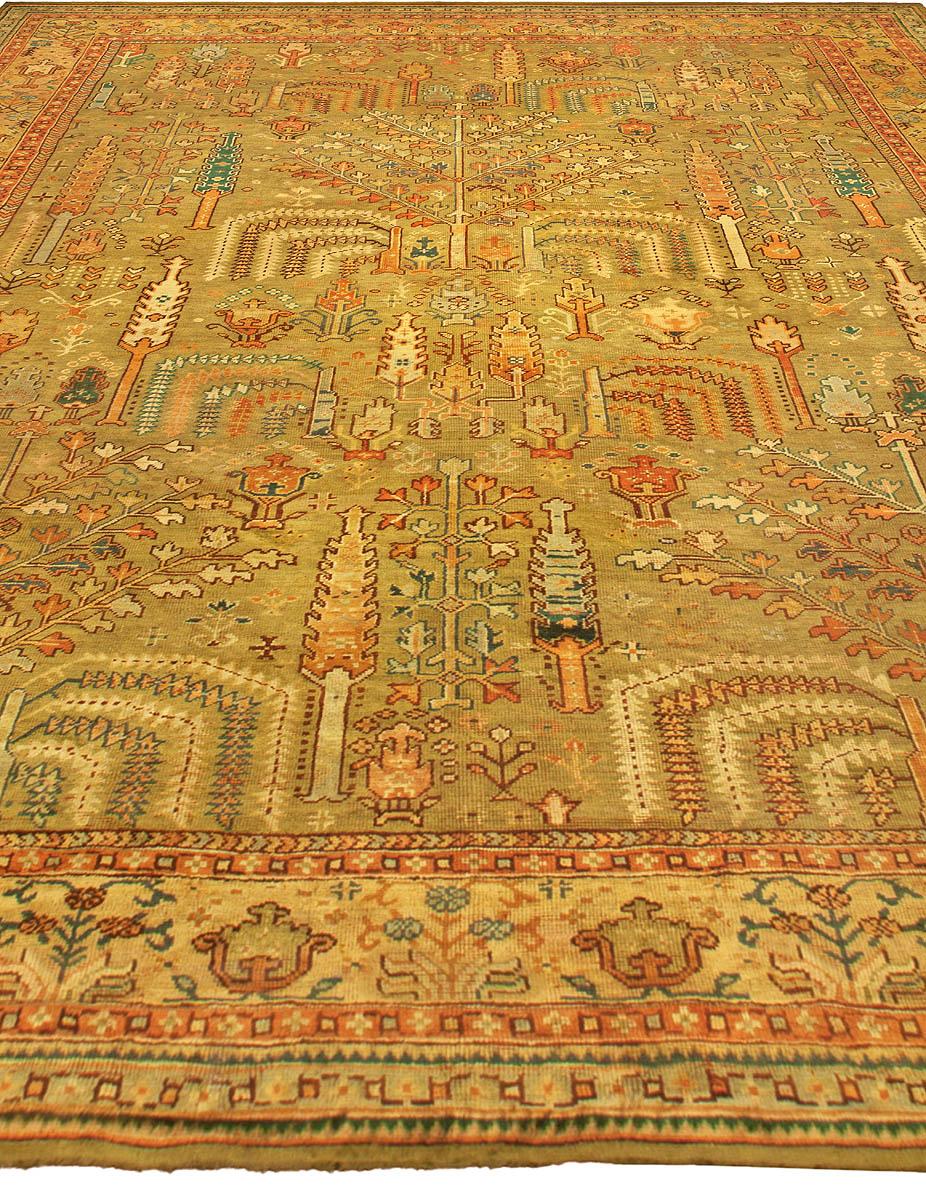 Large Antique Turkish Oushak Rug BB4820