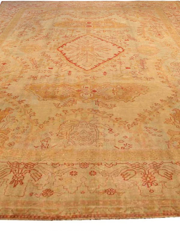 Vintage Turkish Oushak Rug BB1361