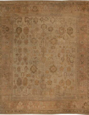 Large Antique Turkish Oushak Rug BB2656