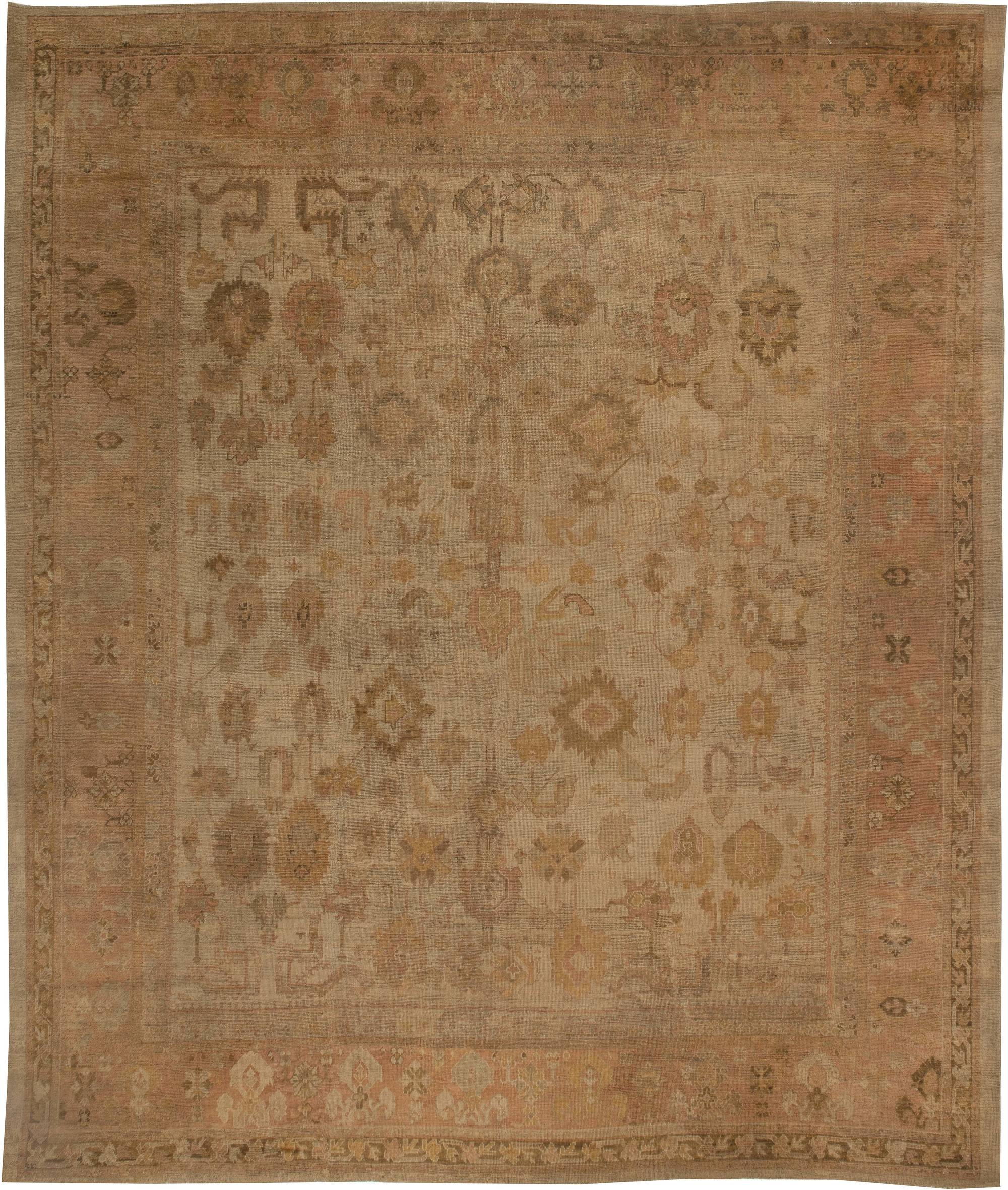 Antique Large Rug: Large Antique Turkish Oushak Rug BB2656 By Doris Leslie Blau