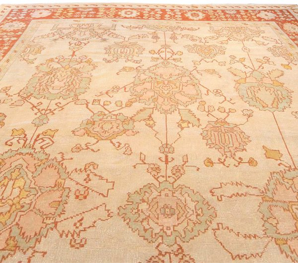 Antique Turkish Oushak Carpet BB3901