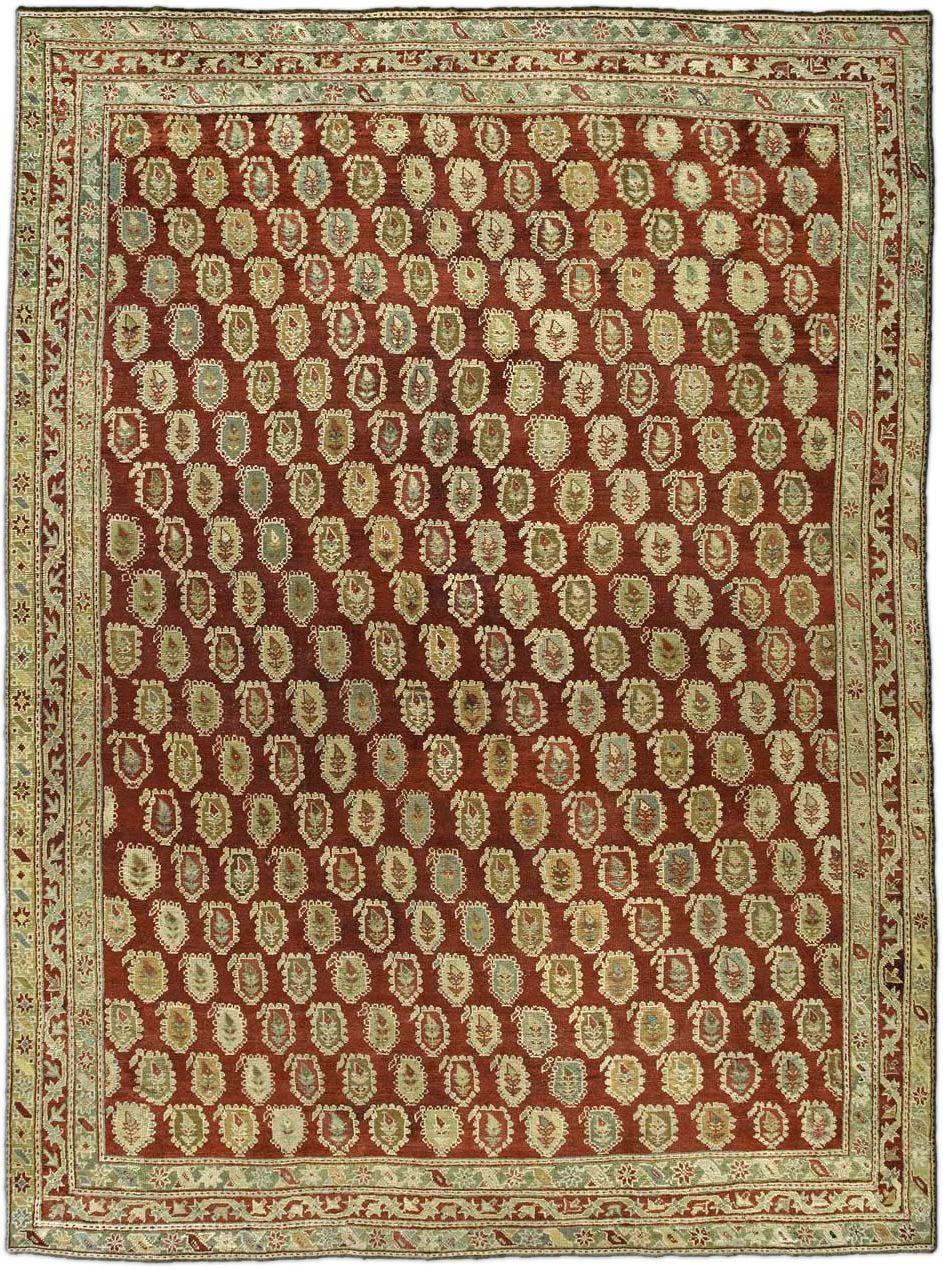 Antique Turkish Oushak Carpet BB3474