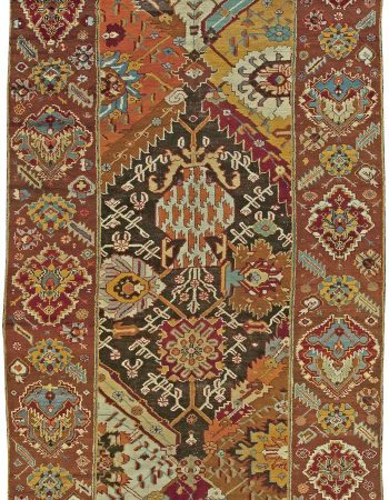 Antique Turkish Oushak Rug (size adjusted) BB6023