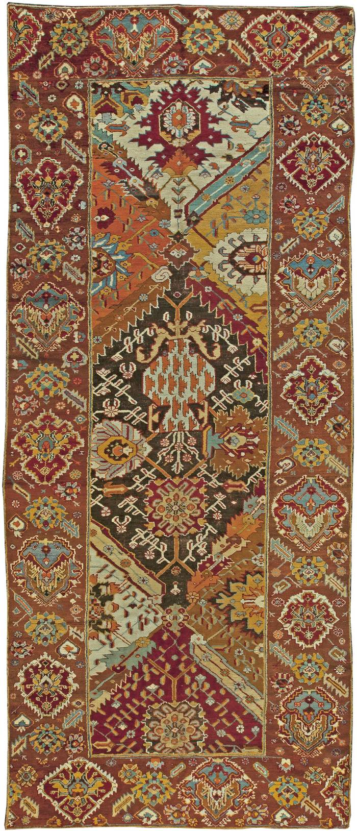 Antique Turkish Oushak Rug Size Adjusted Bb6023 By Dlb