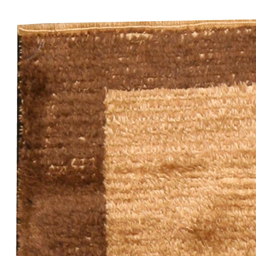 Antique Turkish Tulu Mid Century Beige Handwoven Wool Rug BB4495
