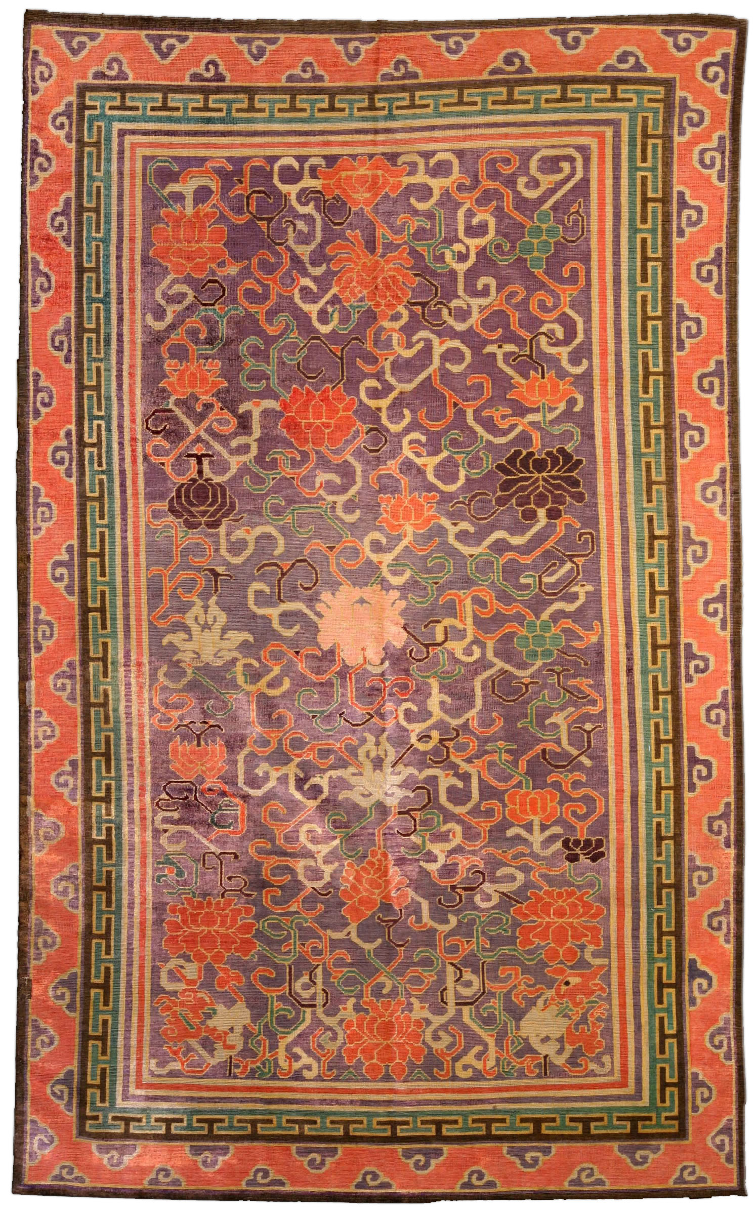 Vintage Silk Chinese Carpet BB3994