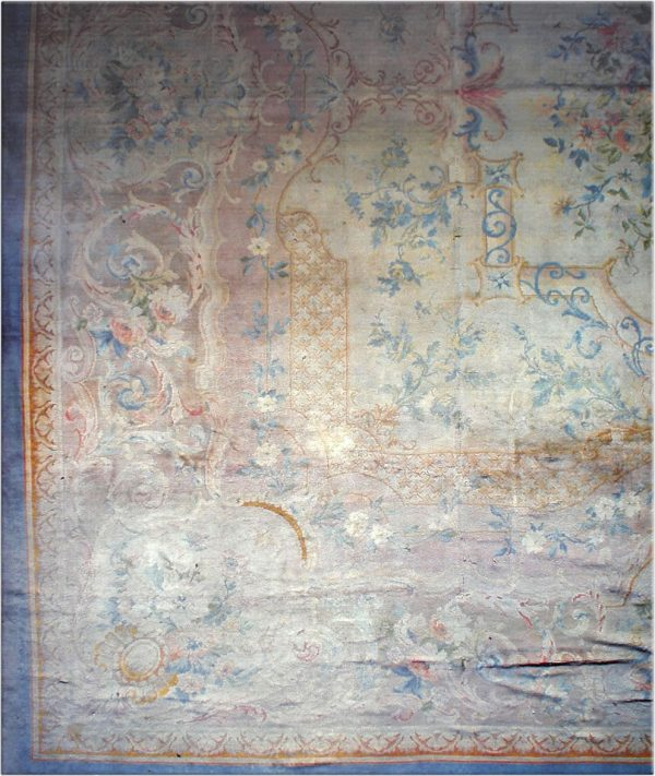 Antique Savonnerie tapete BB1794