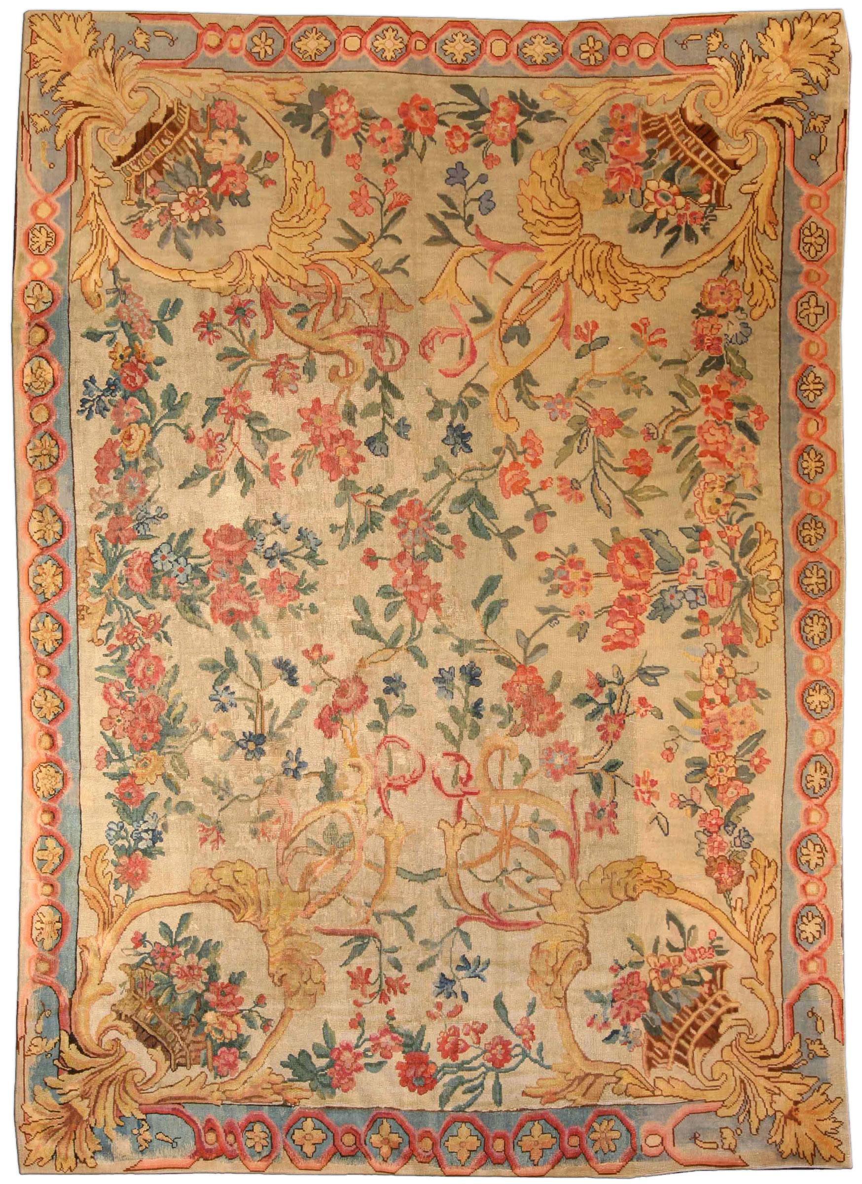 Savonnerie Fragment Rug Bb3936 By Dlb