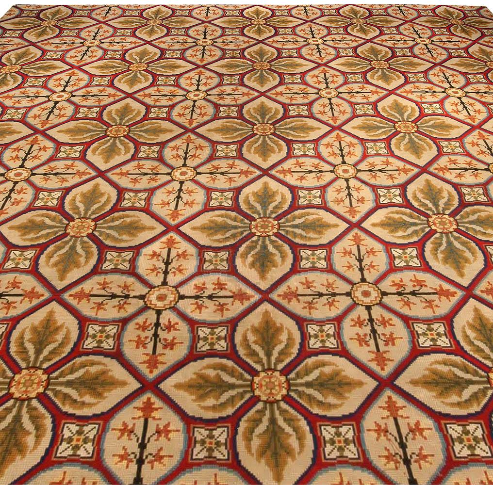 Vintage Needlework Carpet BB4068