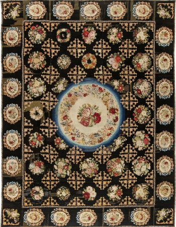 Antique Needlework Rug BB2397