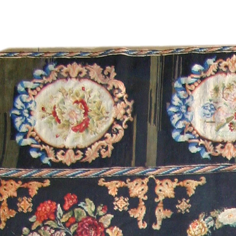 Antique Needlework Rug BB2397