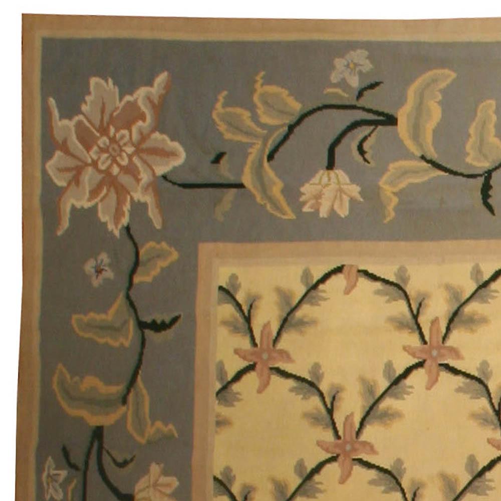 Vintage Portuguese Needlepoint Carpet BB4467