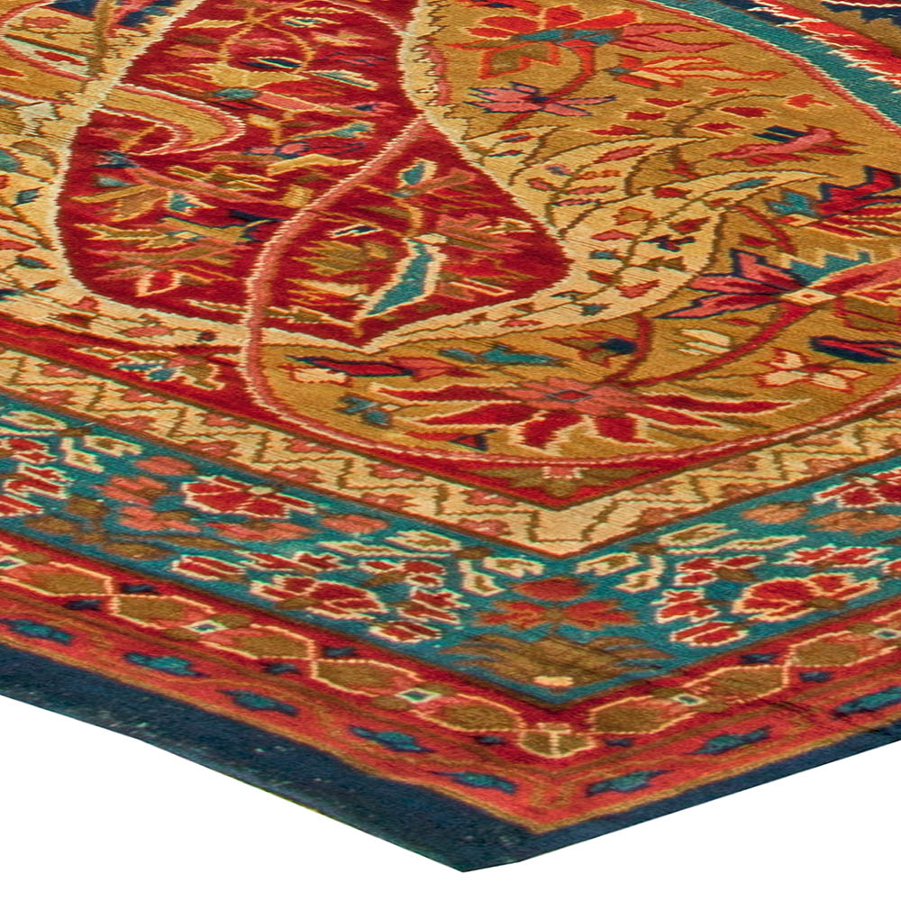 Oversized Antique English Axminster Carpet Bb6127 By Dlb