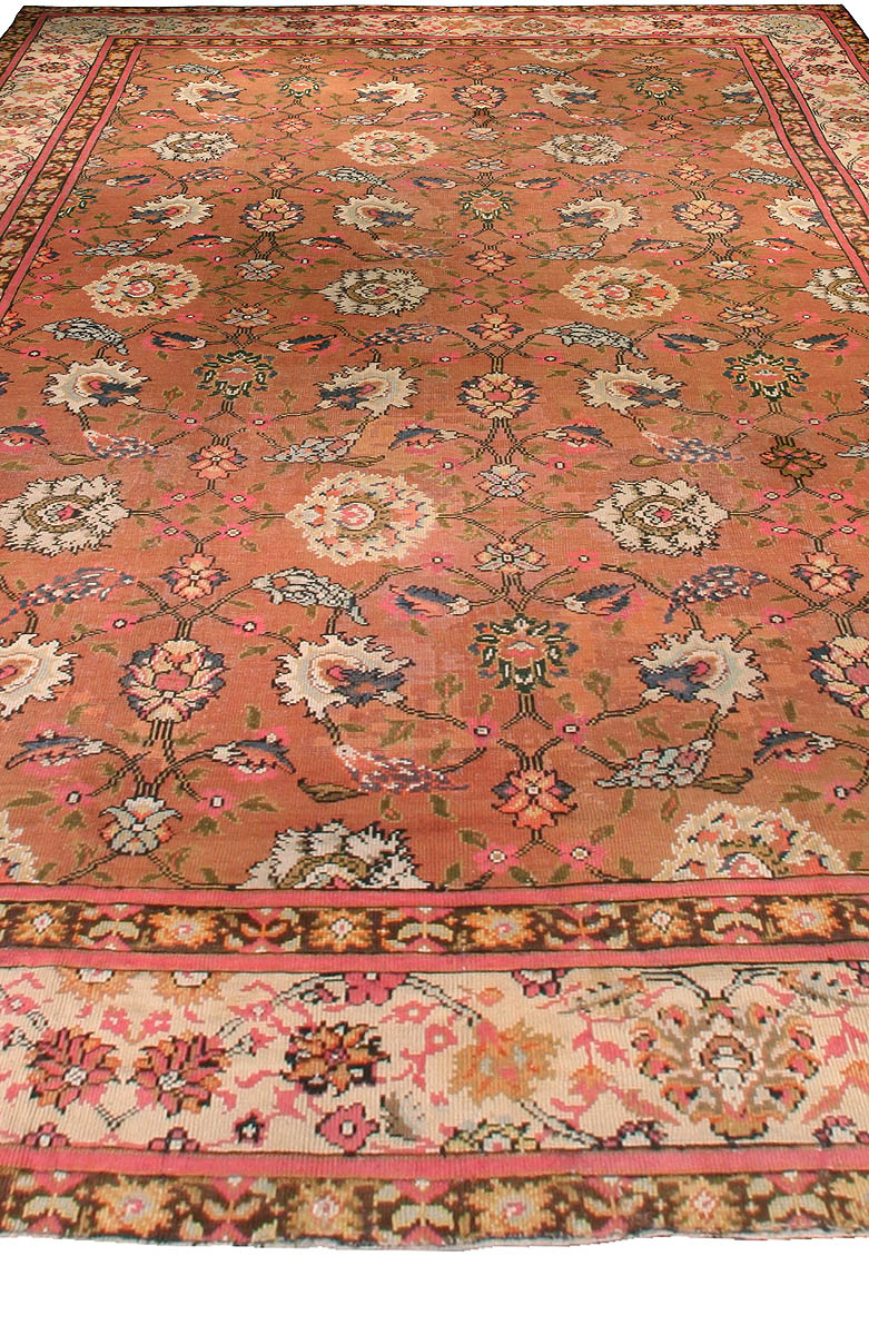 Antique English Axminster Rug Size Adjusted Bb0015 By Dlb