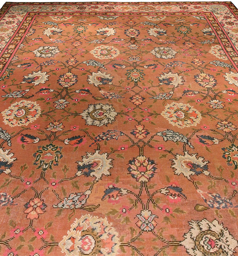 Antique English Axminster Rug Size Adjusted Bb0015 By