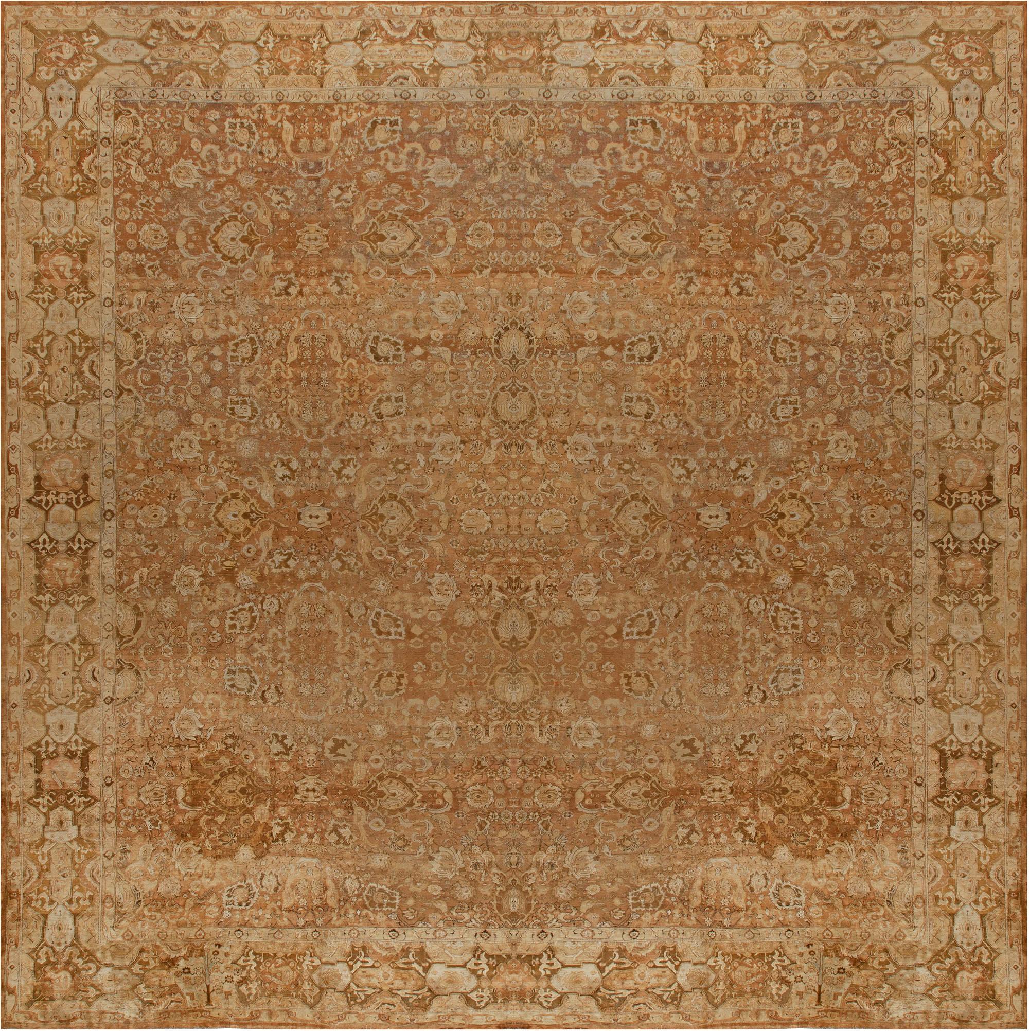 Oversized Antique Indian Agra Carpet BB5675
