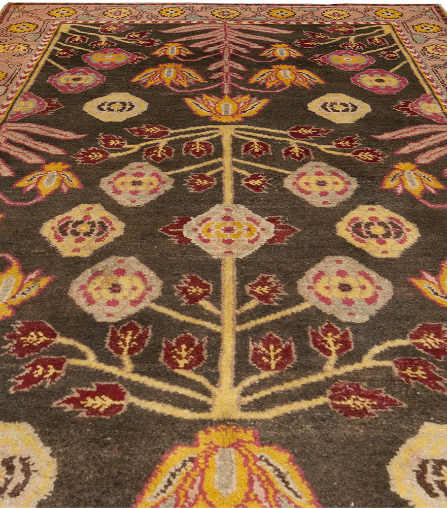 Arts And Crafts Rugs With Exciting Indian Agra Rug Design: Antique Indian Agra Rug BB4935 By Doris Leslie Blau