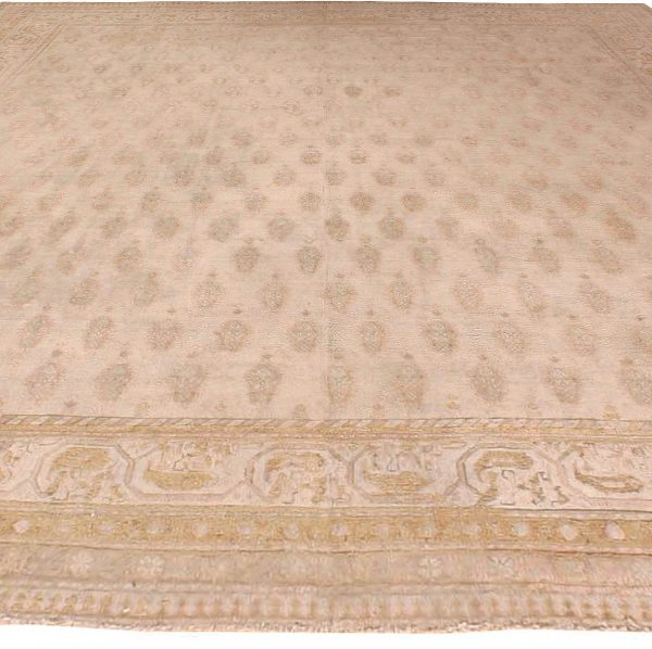 Vintage Indian Cotton Agra Carpet BB2689