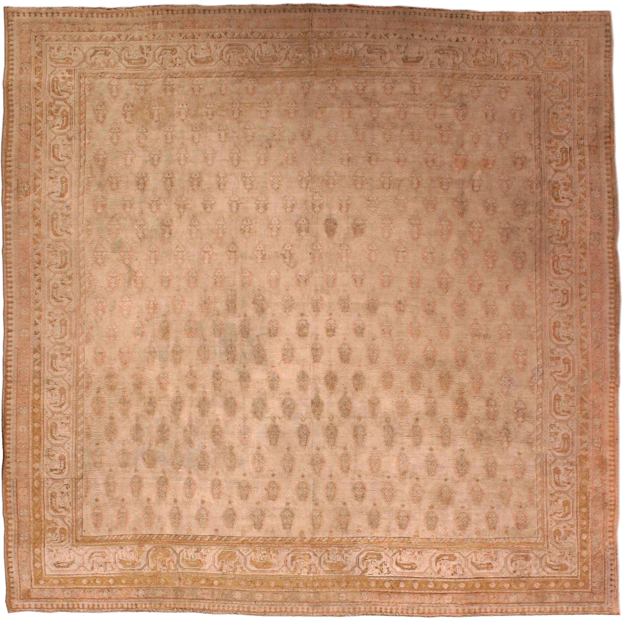 Vintage Indian Cotton Agra Carpet BB2689