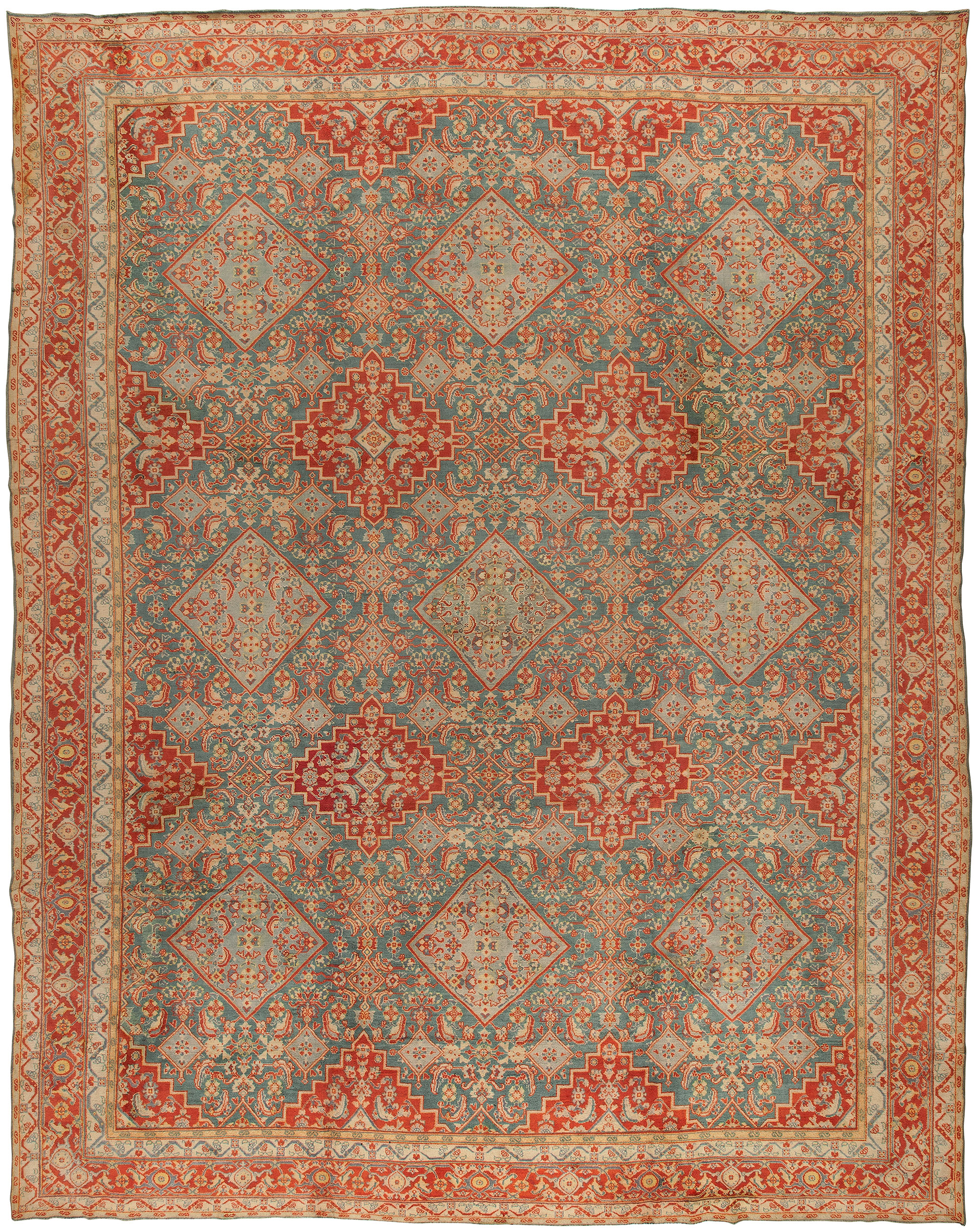 Antique cotton Indian Agra Rug BB0912