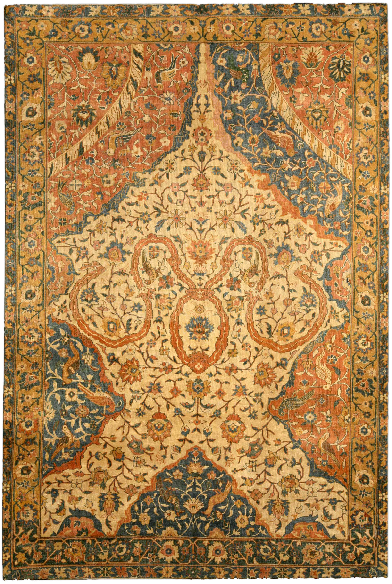 Antique Indian Carpet BB4166