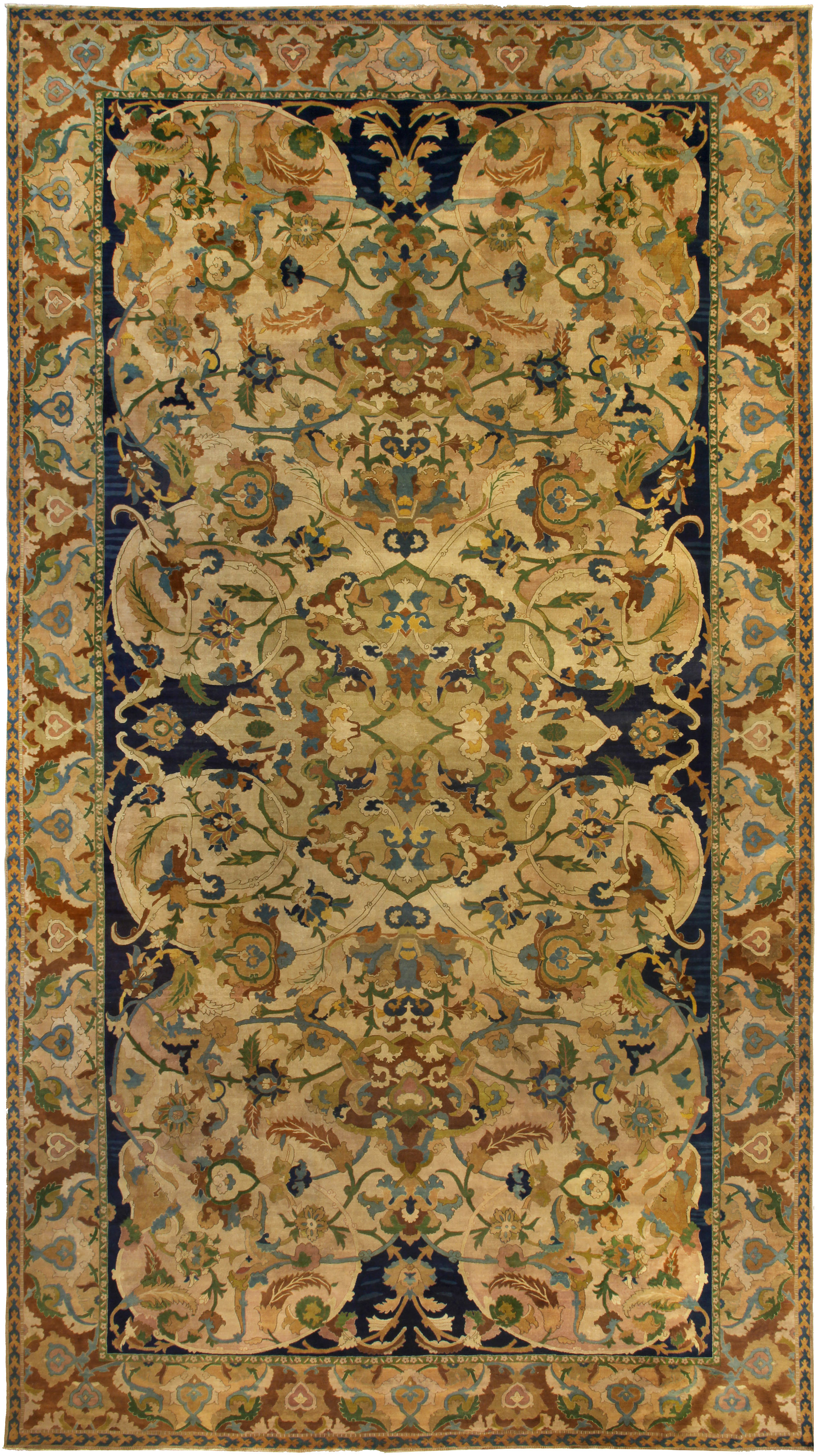Antique Indian Rug Bb5257 By Dlb
