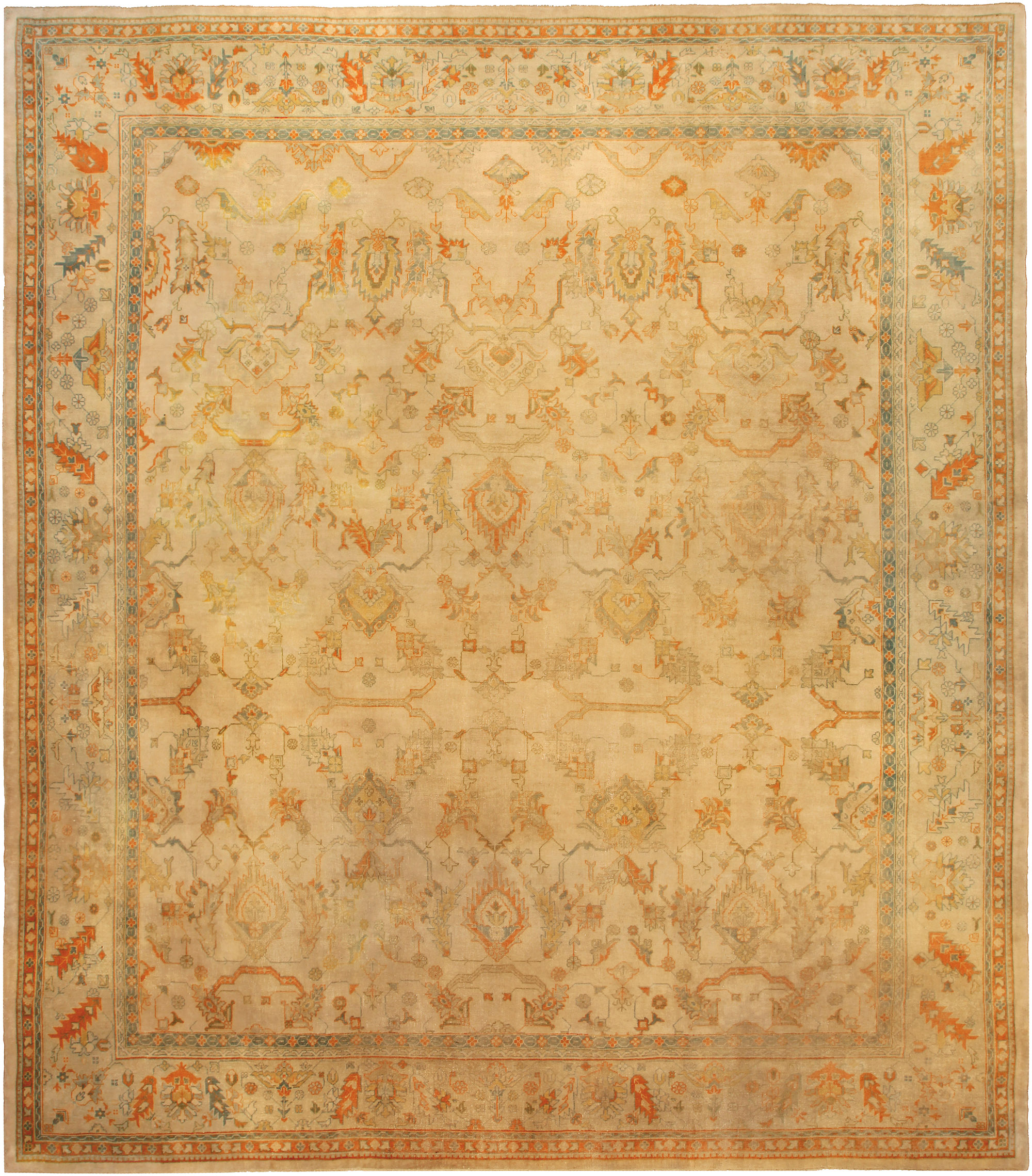 Antique Turkish Oushak Rug (size adjusted) BB5155