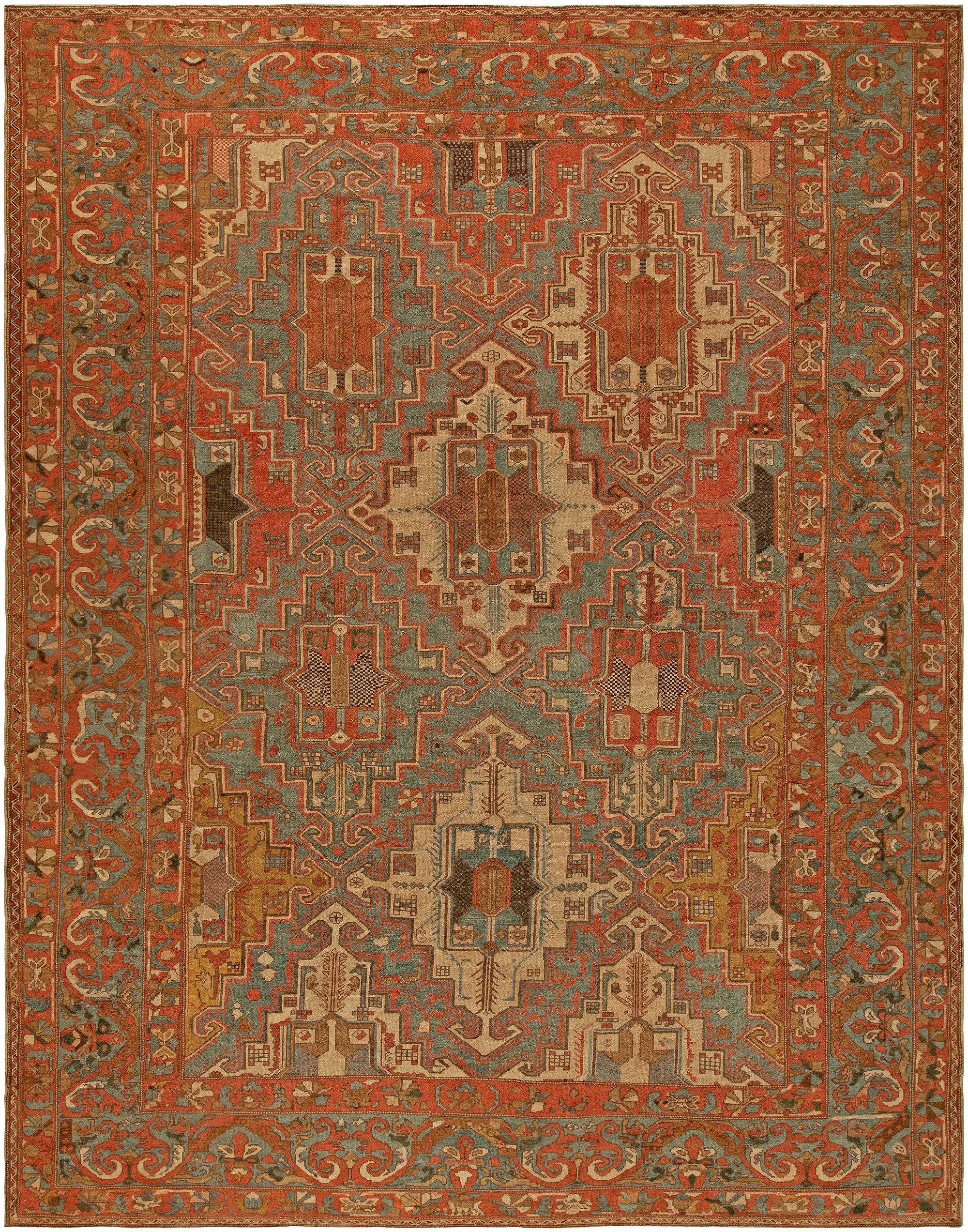 Antique Persian Baktiari Rug BB5736