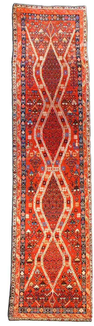 Antique Persian Hamadan runner BB2778