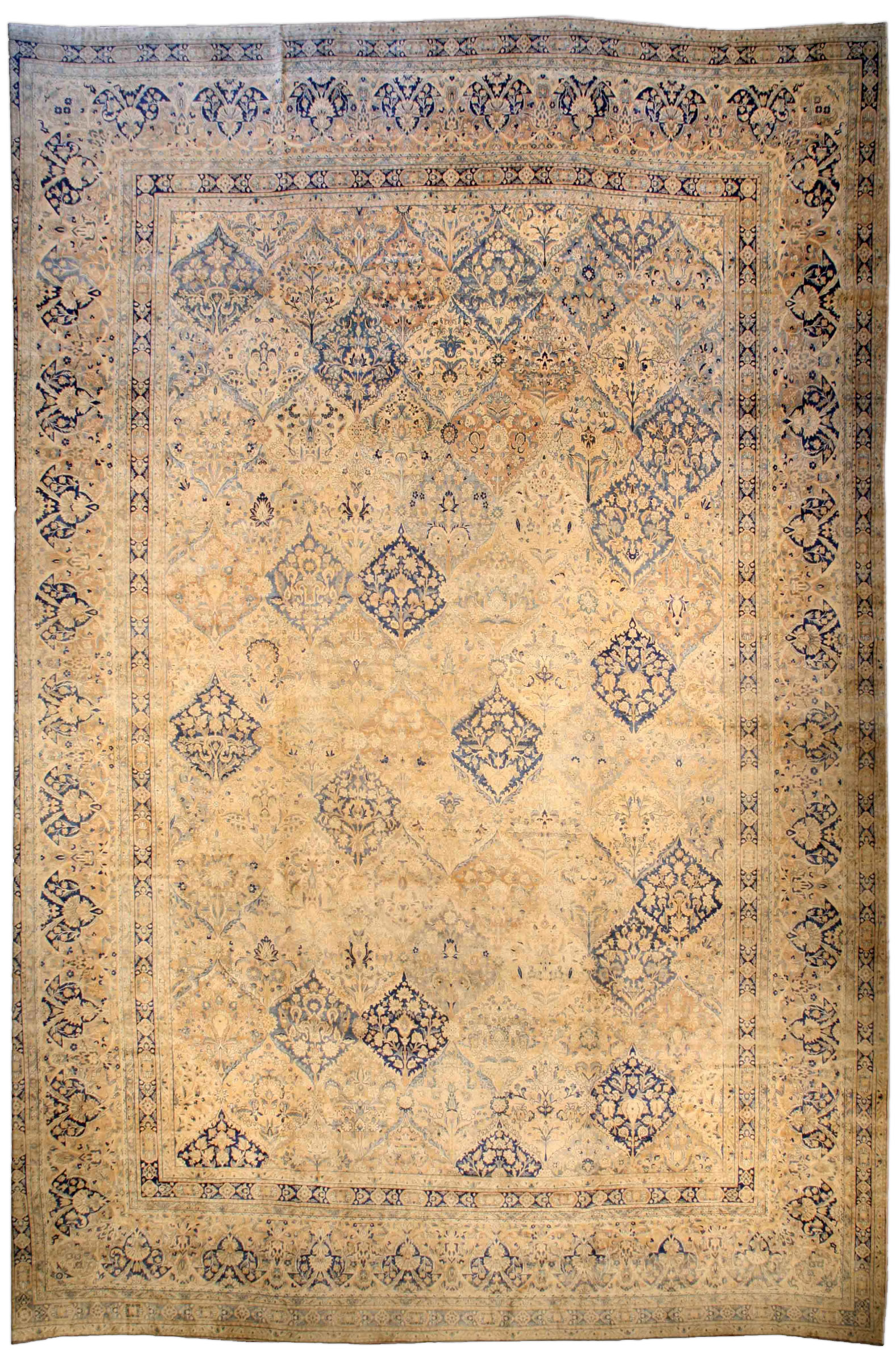 Oversized Vintage Persian Kirman Carpet BB3228