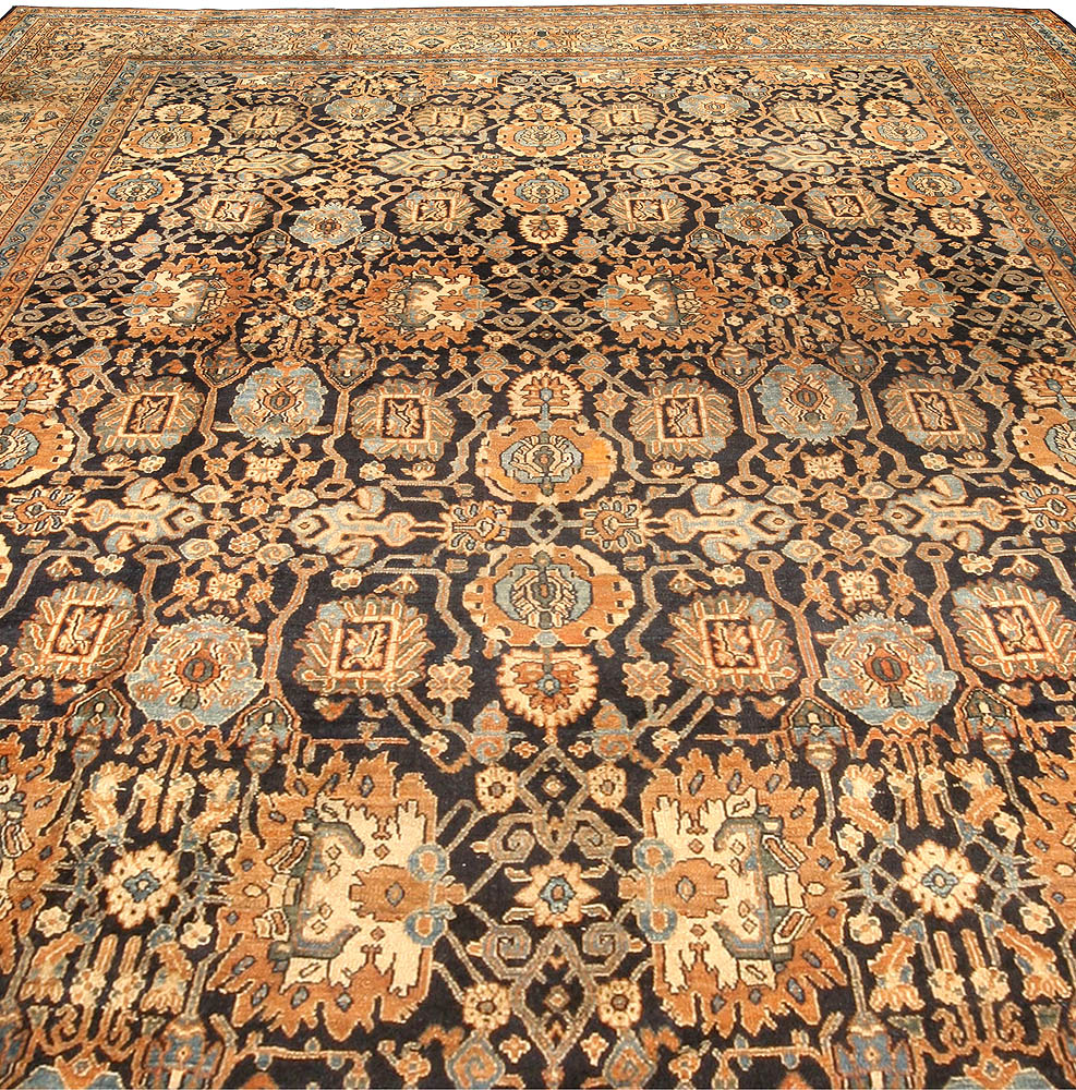 Antique Persian Malayer Rug (Size Adjusted) BB4416
