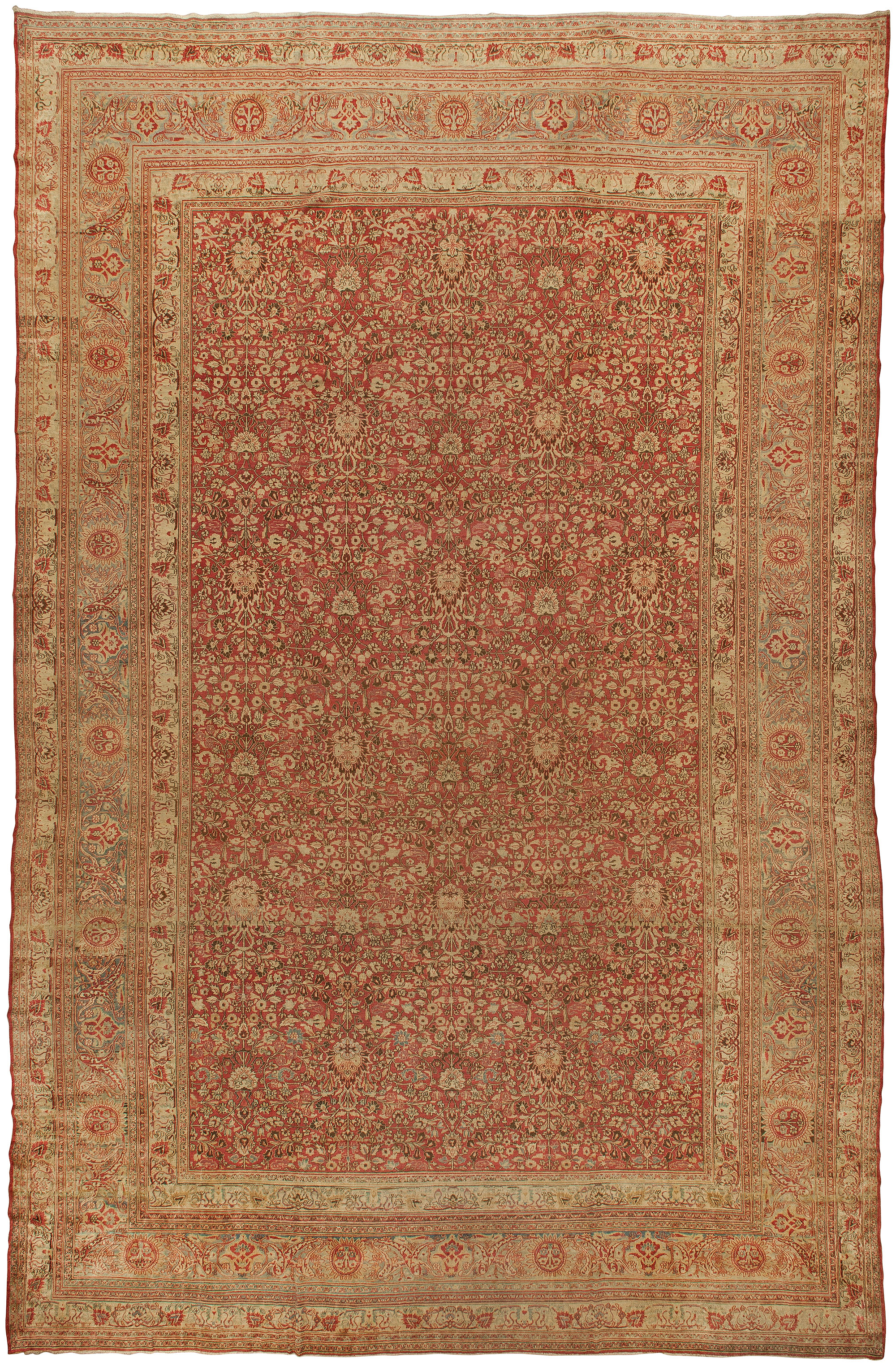 Oversized Antique Persian Meshad Rug BB1888
