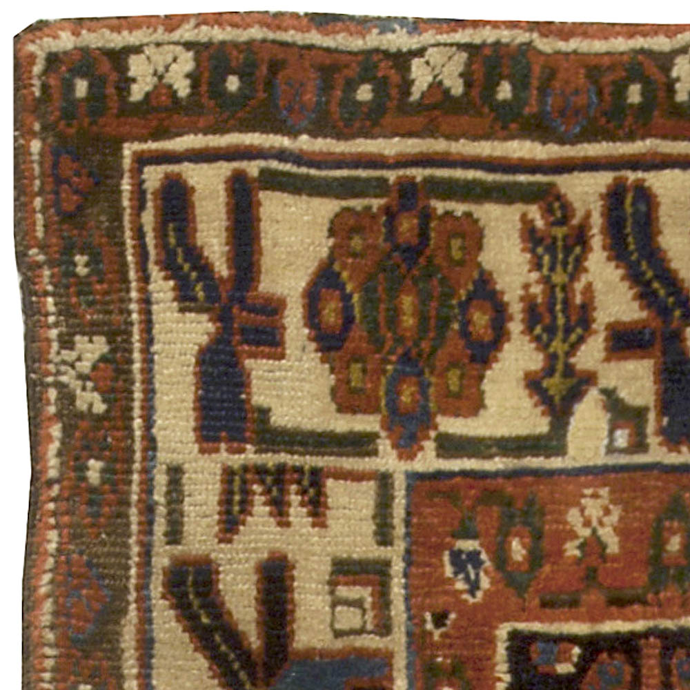 19th Century North West Persian Handwoven Wool Rug BB5087