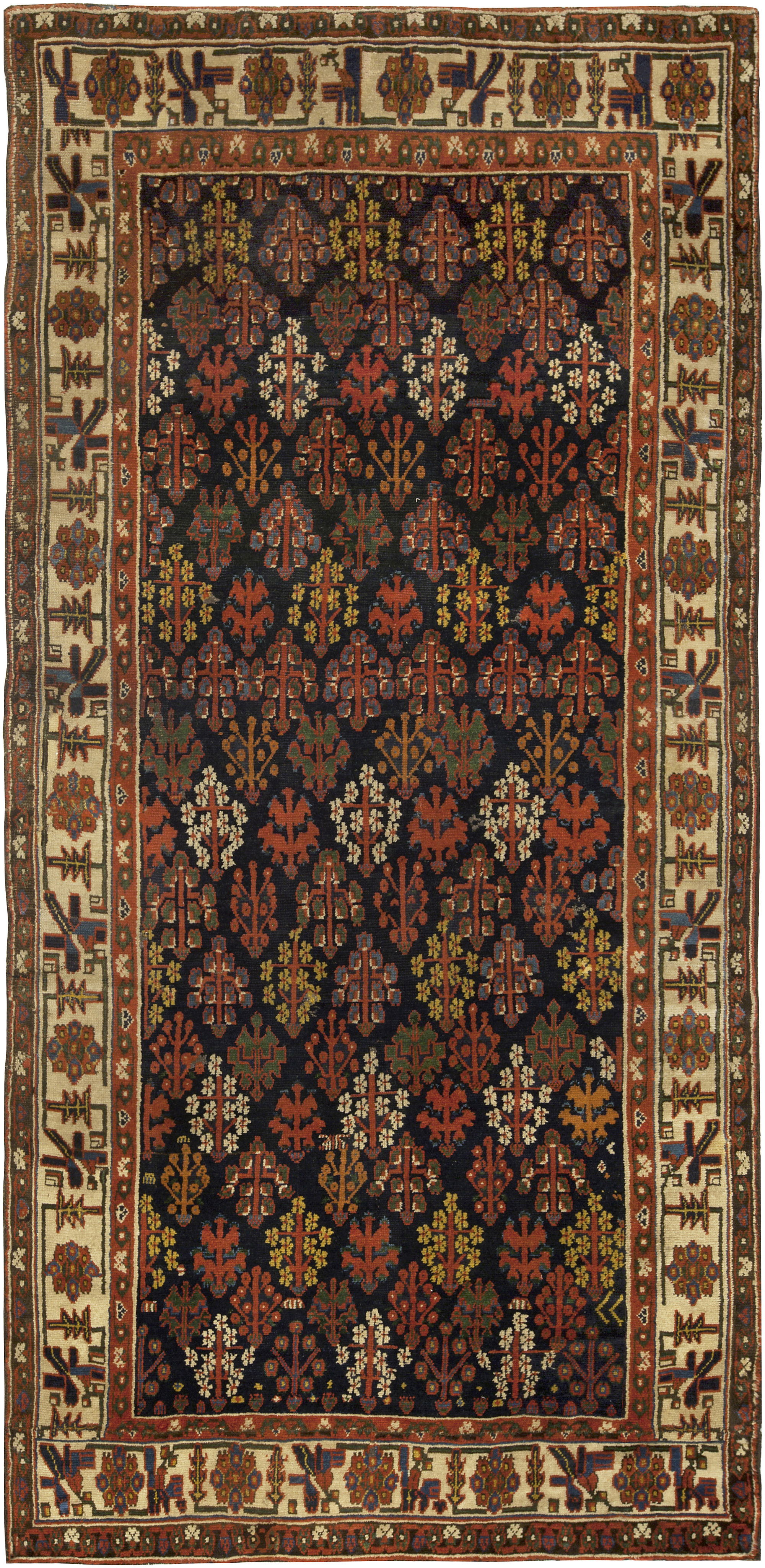 19th Century North West Persian Handwoven Wool Rug Bb5087 By Dlb